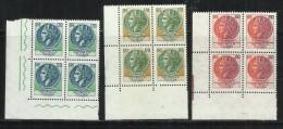 ITALIA REPUBBLICA ITALY REPUBLIC 1977 TURRITA SIRACUSANA SERIE COMPLETA FULL SET QUARTINA BLOCK MNH - 1971-80: Mint/hinged