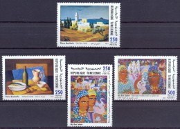 Tunisia/Tunisie 2001 - Commemoration Of Great Artist Painters Works In Tunisia - Tunisia