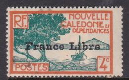 New Caledonia SG 235 1941 France Libre 4c Blue And Orange MNH - Nouvelle-Calédonie