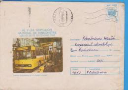 BUS CARS AUTO  ROMANIA  STATIONERY - Bussen