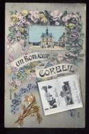 91 Essonne Un Bonjour De Corbeil Carte Fantaisie Dépliant Incomplet Manque Le Couvercle - Corbeil Essonnes