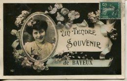 CPA FANTAISIE UN TENDRE SOUVENIR DE BAYEUX - Bayeux