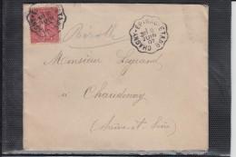 Envel AMBULANT De CHAGNY-EPINAC-ETANG  Sur Lettre De LUCENAY Le 8 JUIN 1907 Pour CHAUDENAY S.et.L. - Marcophilie (Lettres)