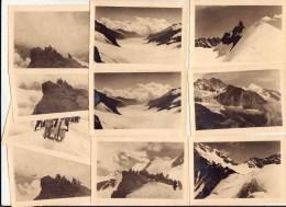 Jungfrau / Suisse 10 Photographies 1947 - Vieux Papiers