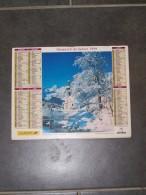 1999 CALENDRIER ( Double ) ALMANACH DU FACTEUR, LA POSTE, CHAPELLE EN BAVIERE, AIGUILLE DU DRU - VAR 83 - Calendars
