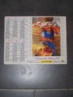 1997 CALENDRIER ( Double ) ALMANACH DU FACTEUR, LA POSTE, JEUNE FILLE ET PANIER DE FRUITS, FILLETTE ET CHIENS - ARDENNES - Big : 1991-00