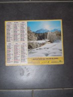 1996 CALENDRIER ( Double ) ALMANACH DU FACTEUR, LA POSTE, RUISSEAU EN HIVER, LES HOUCHES ( 74 ) - VAR 83 - Big : 1991-00