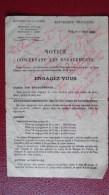 Vieux Papier Notice Concernant Les Engagements Guerre Millitaire 1929 - Historische Dokumente