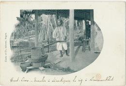 Haut Laos Moulin à Decortiquer Le Riz à Savannaket Rice Mill Edit Claude Saigon - Laos