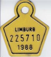 Fiets Limburg 1988 - Plaques D'immatriculation