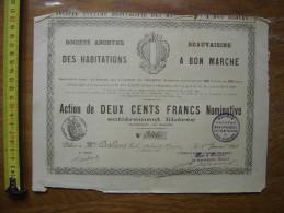 1898 Bond Action Emprunt SOCIETE BEAUVAISINE HABITATIONS BON MARCHE Me RECULLET - Actions & Titres