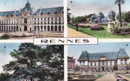 RENNES - ILLE & VILAINE  -  (35)  -  CPSM MULTIVUES DENTELEE. - Rennes