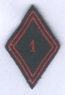 Insigne Losange De Bras Du 1er Régiment Du Train - Ecussons Tissu