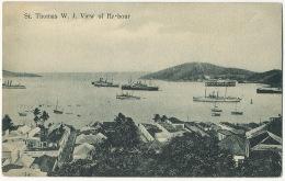 St Thomas W.J. View Of Harbour  Edit Edw. Fraas Danish West Indies - Isole Vergini Americane