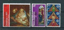 1971 New Zealand Complete Set Kerst,christmas,weihnachten,noël Used/gebruikt/oblitere - Nieuw-Zeeland