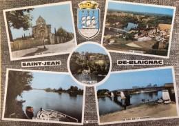 SAINT JEAN DE BLAIGNAC - (33 - GIRONDE), CPSM COLORISEE MULTIVUES ECRITE, VOYAGEE & TIMBREE DE 1967 - Other Municipalities