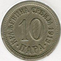 Serbie Serbia 10 Para 1912 KM 19 - Serbie