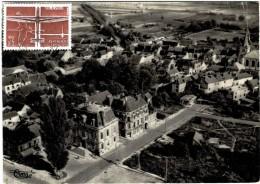 Carte Postale Ancienne De FERE CHAMPENOISE-vue Aérienne-Hôtel De Ville- Rue Du Maréchal Joffre - Autres Communes