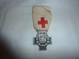 Médaille Décoration Militaire Sbm 1914/1919 Croix Rouge Grande Guerre - Medaillen & Ehrenzeichen