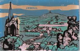 70 - VESOUL - Carte Phosphorescente En Velours / Feutrine - Vesoul