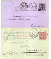 FRANKREICH  2 Cartes Postales 1883/1904  Belfort-Lutterbach/PARIS - FRANKFURT - France