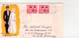 Japon 1971-Visage D'enfants-timbre En Paie Sur FDC Envoyé Vers La DDR - Enfance & Jeunesse