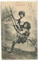 Enfants Paul Et Virginie Sur Balançoire - Maurice