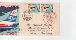 Japon 1967-Avion DC8-FDC Envoyé Vers L´Allemagne-DDR - Vliegtuigen