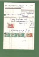 Facture - HUBERT-MACQ IMPRIMERIE PAPETERIE CHIMAY -1951- - Imprimerie & Papeterie