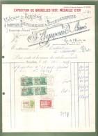 Facture -IMPRIMERIE J. AYMOND Aîné - Bruxelles - 1949 - - Imprimerie & Papeterie