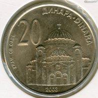 Serbie Serbia 20 Dinara 2003 UNC KM 38 - Servië