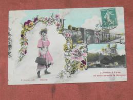 LYON    1910   FANTAISIE THEME TRAIN EN GARE   EDIT  CIRC OUI - Tarjetas De Fantasía