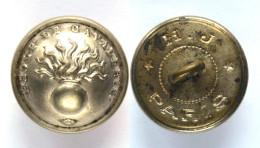 Bouton ECOLE DE CAVALERIE (1870-1914) Argenté. 21 Mm - Boutons