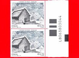 Nuovo - ITALIA - 2014 - Patrimonio Artistico E Culturale - 0,70 € • Capanne Celtiche, Fiumalbo (MO) - Alfanumerico - 6. 1946-.. Repubblica