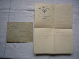 Facture + Enveloppe Illustrées Pub 1903  Léon Lavaysse Vins Et Spiritueux En Gros à Gignac Hérault - Levensmiddelen