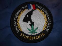 Ecusson Patch Tissu Clémenceau Police Judiciaire Stups De Versailles - Police & Gendarmerie