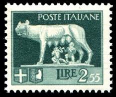 REGNO 1929 Serie Imperiale Effige Di V.E.III Lire 2,55 L. MNH ** Integro - 1900-44 Vittorio Emanuele III