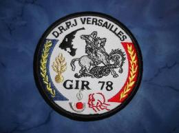 Ecusson Patch Gendarmerie Police Judiciaire Douane GIR 78 Yvelines Blanc - Ecussons Tissu