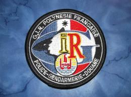 Ecusson Patch Gendarmerie Police Judiciaire Douane GIR Polynésie - Ecussons Tissu