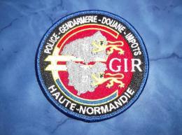 Ecusson Patch Gendarmerie Police Judiciaire Douane GIR Normandie 1 - Ecussons Tissu