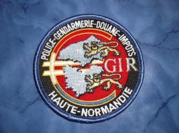 Ecusson Patch Gendarmerie Police Judiciaire Douane GIR Normandie 2 - Ecussons Tissu