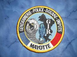Ecusson Patch Gendarmerie Police Judiciaire Douane GIR Mayotte - Ecussons Tissu