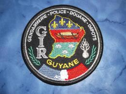 Ecusson Patch Gendarmerie Police Judiciaire Douane GIR Guyane - Ecussons Tissu