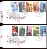 2003  2 FDC'S 1441 + 1442   OCB 3184/93 - COTE EURO 12,00  - THIS IS BELGIUM - FDC