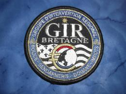 Ecusson Patch Gendarmerie Police Judiciaire Douane GIR Bretagne. - Ecussons Tissu