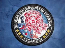 Ecusson Patch Gendarmerie Police Judiciaire Douane GIR Picardie - Ecussons Tissu