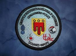 Ecusson Patch Gendarmerie Police Judiciaire Douane GIR Auvergne - Ecussons Tissu