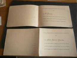 2 Invitations Au Banquet Du COMITE NATIONAL DANOIS Lors Du Xe Congres De La Chambre De Commerce Internationale 1939 - Faire-part
