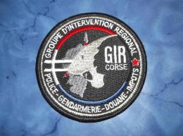 Ecusson Patch Gendarmerie Police Judiciaire Douane GIR Corse - Ecussons Tissu