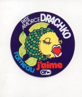 REF 6  : Autocollant Publicitaire Sticker Peche Pecheur Amorce DRACHKO Rameau J'aime - Adesivi